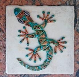 Gecko cobblestone & peacock baby