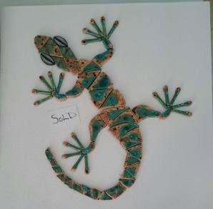 Gecko cobblestone & peacock