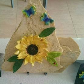 sunflower-plaque