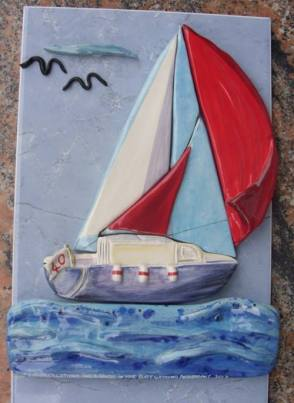 Boat on tile