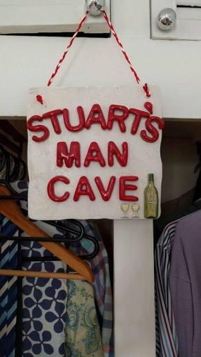 Stuart's man cave in situe